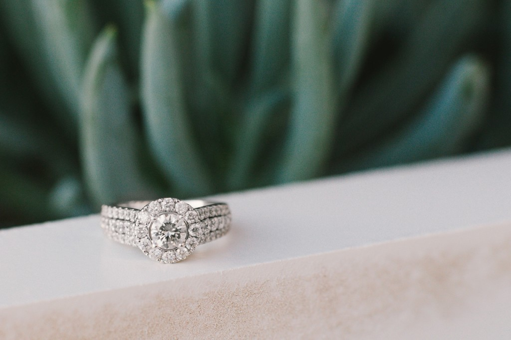 halo diamond engagement ring creative ring shot photo
