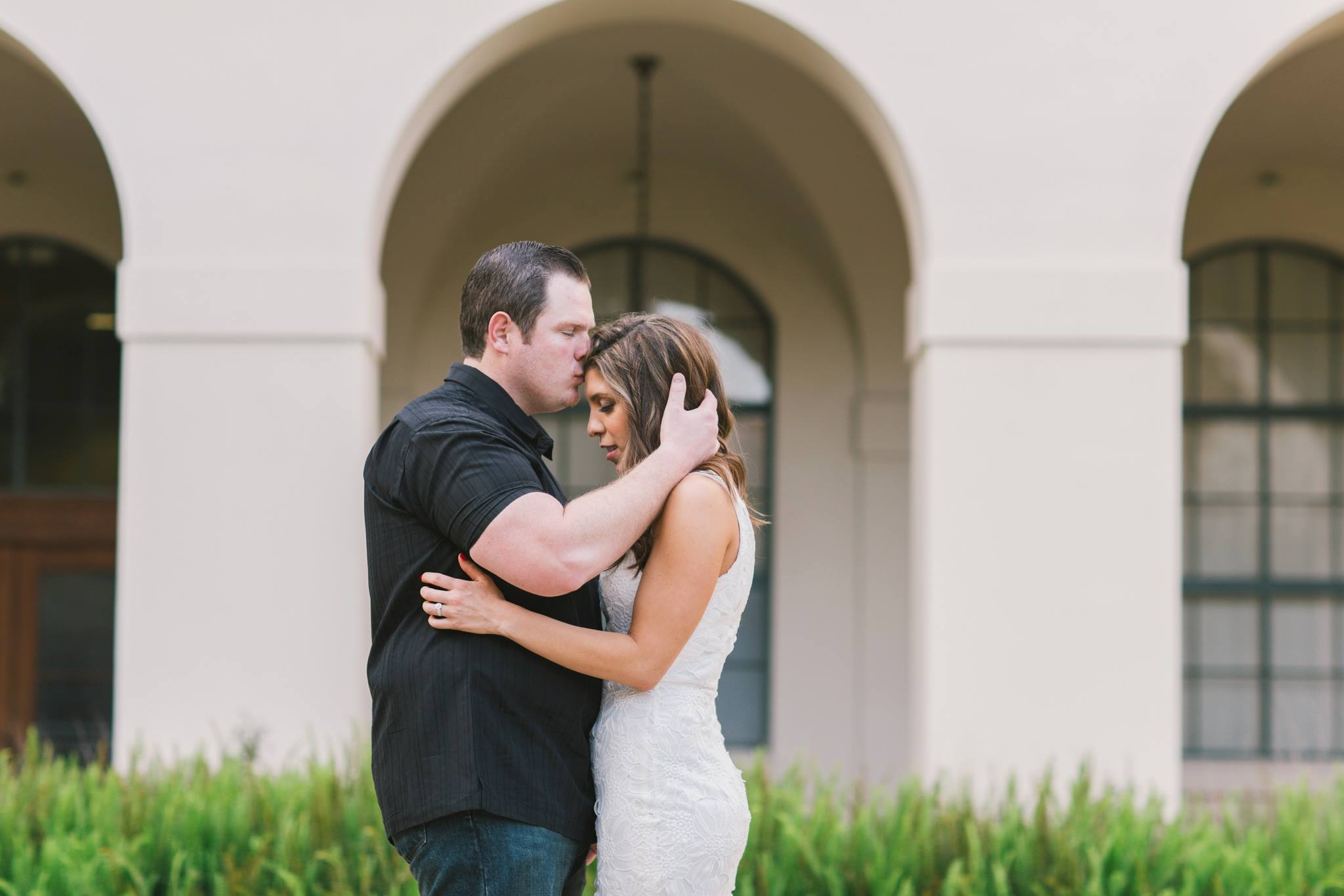 pasadena city hall romantic engagement session photo