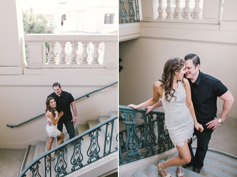 photography by paulina pasadena city hall romantic engagement session photo