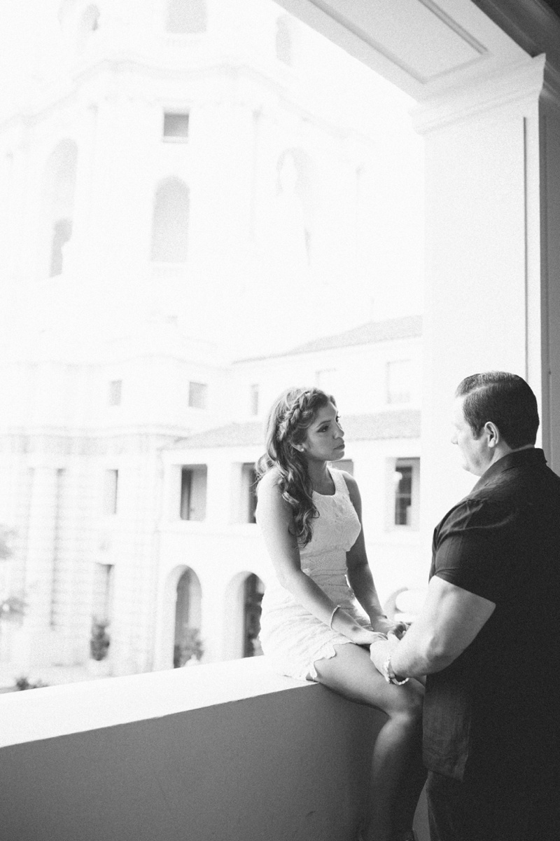 pasadena city hall engagement portrait photo