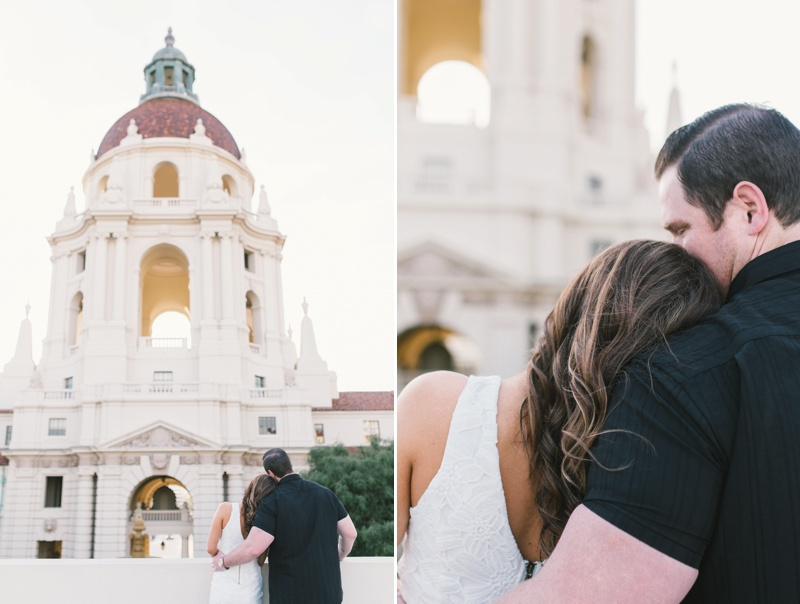 los angeles southern california fine art engagement session at pasadena city hall photo