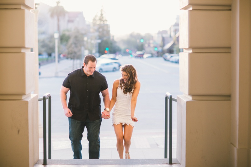 romantic southern california modern engagement session photo
