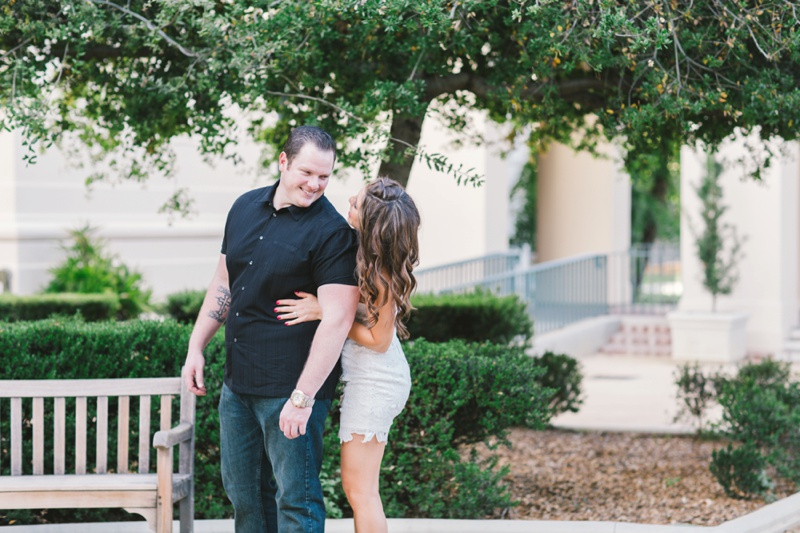 bride and groom engagement session photo