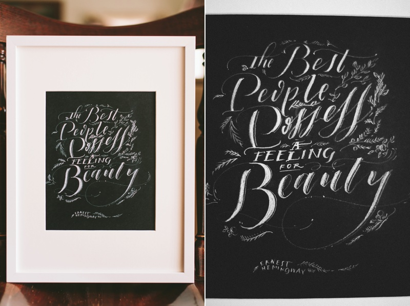 wedding calligraphy inspiration photo