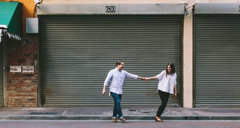 warehouse engagement session photo