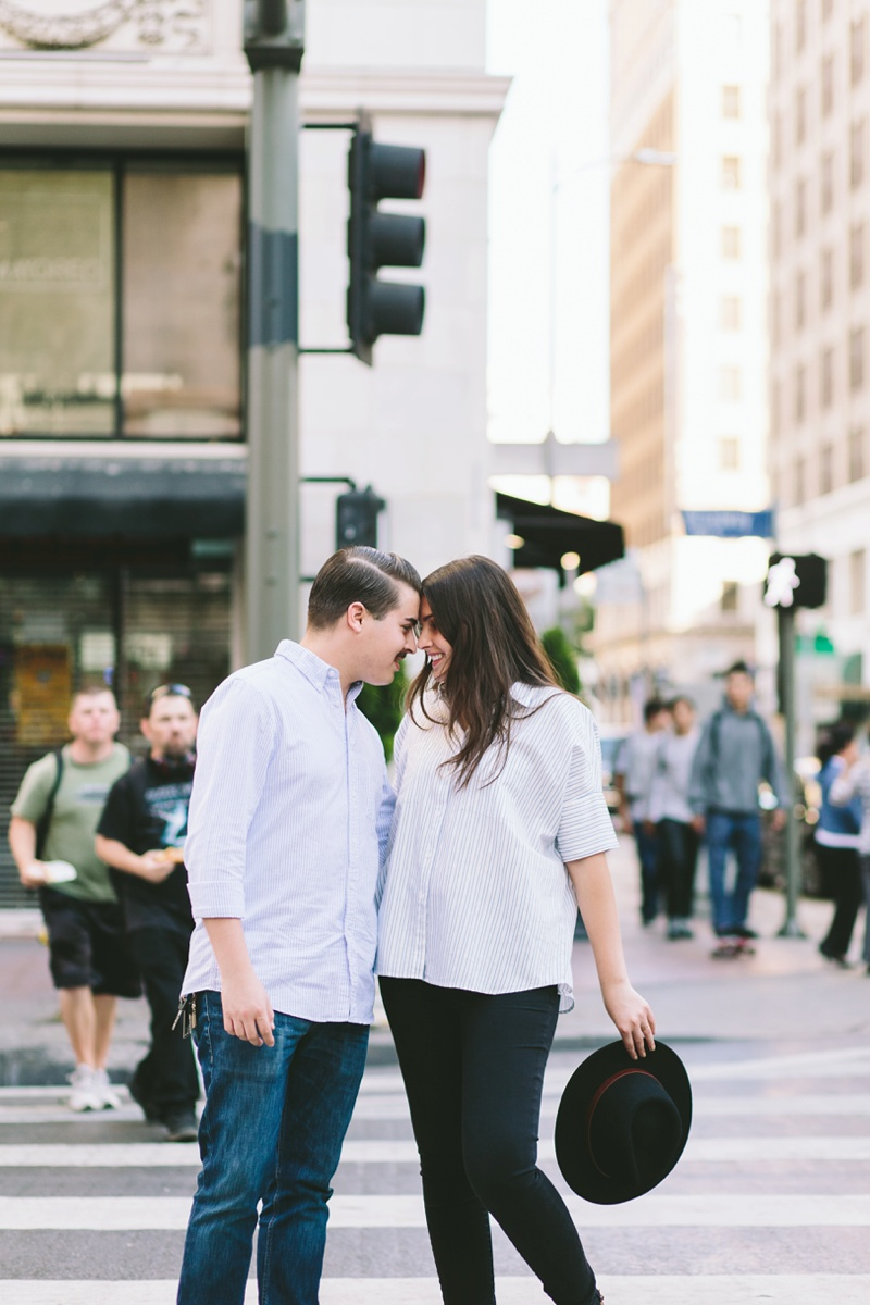 romantic city engagement session los angeles photographer photo