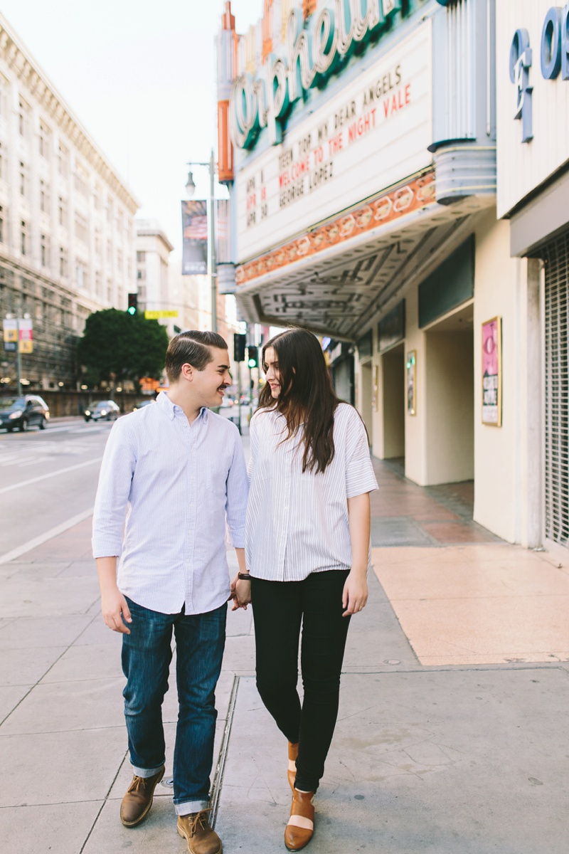 orpheum theater engagement session photo