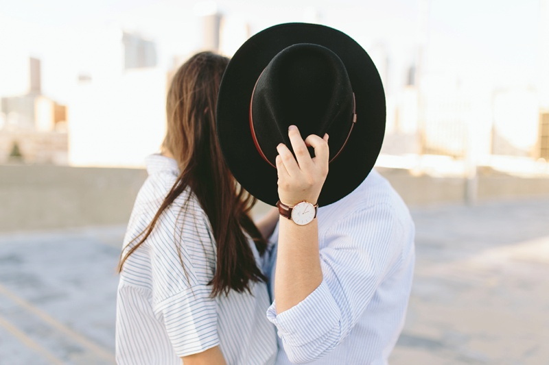 kiss behind hat photo daniel wellington watches