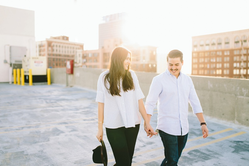 urban rooftop engagement session photo