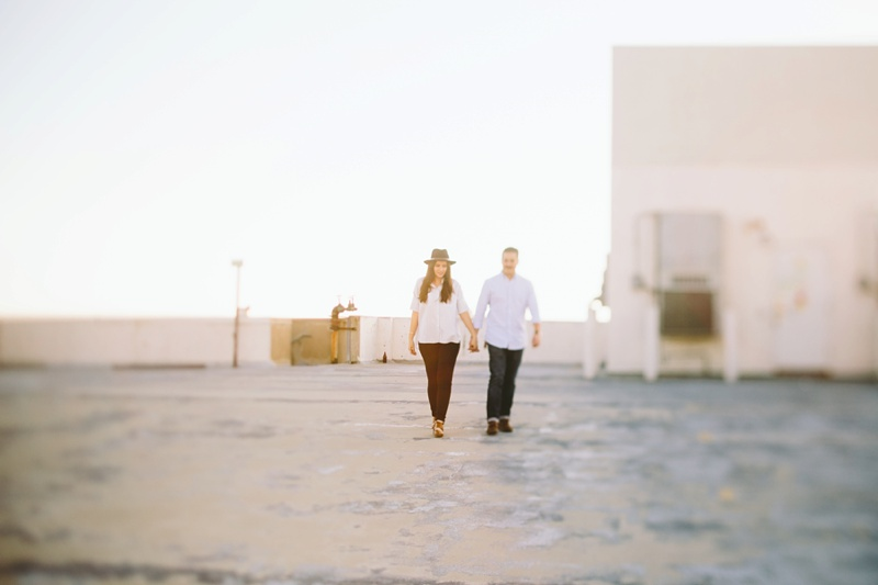 rooftop engagement session photo