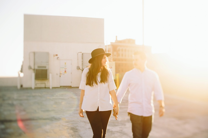 los angeles downtown romantic rooftop engagement session photography photo