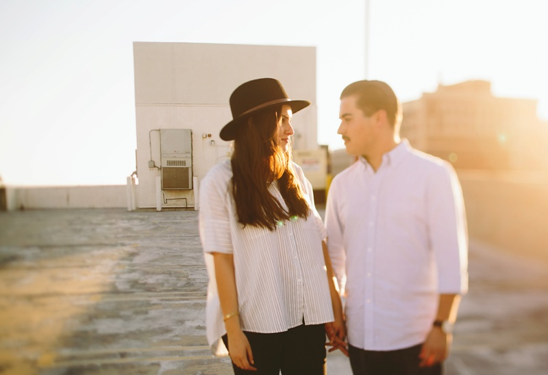 downtown los angeles rooftop engagement session photography photo