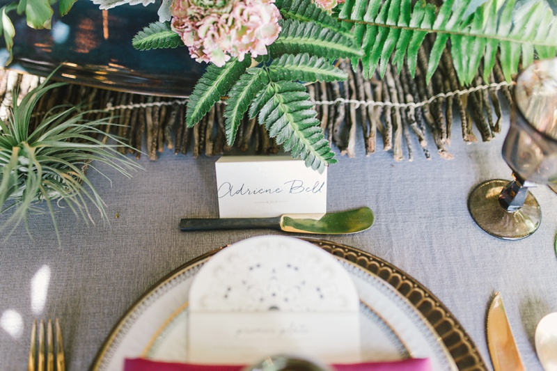 fern wedding tablescape photo