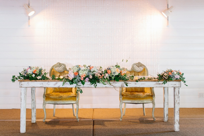 Green Gables Wedding Head Table Photo