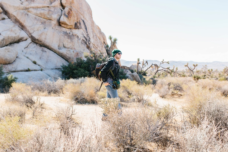 joshua tree engagement session photo