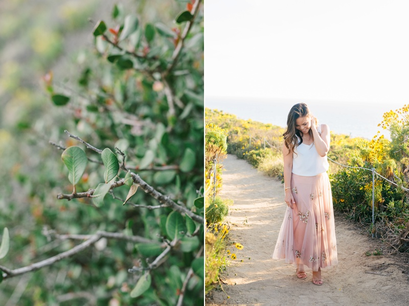 point dume engagement session photo