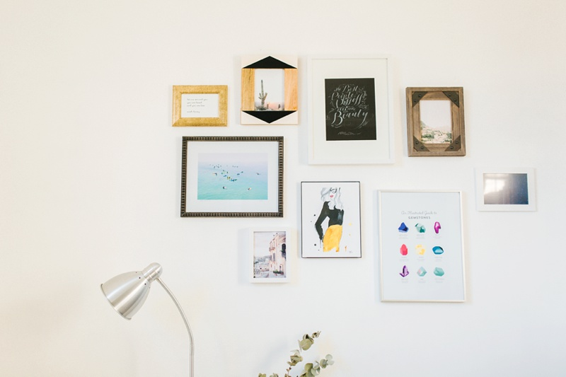 gallery wall small spaces home tour photo