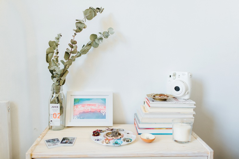 nighstand home tour small spaces photo