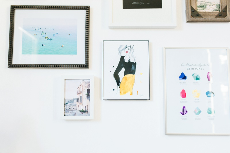 gallery wall home tour photo