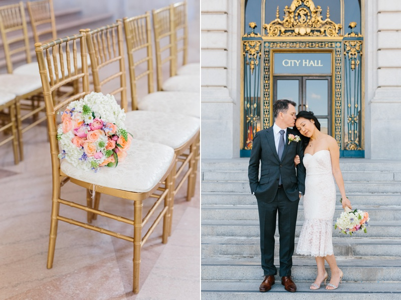 san francisco city hall wedding photo