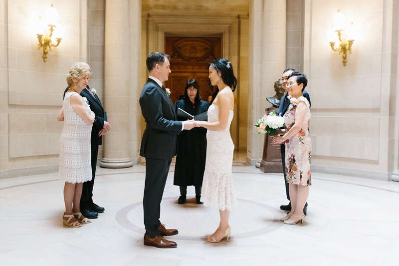 san francisco city hall elopement photo